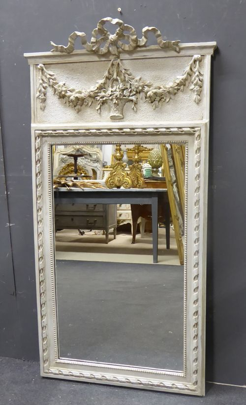 Antique French Trumeau Mirror From Www