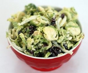 Brussels Sprouts Gorgonzola Salad with Cranberries