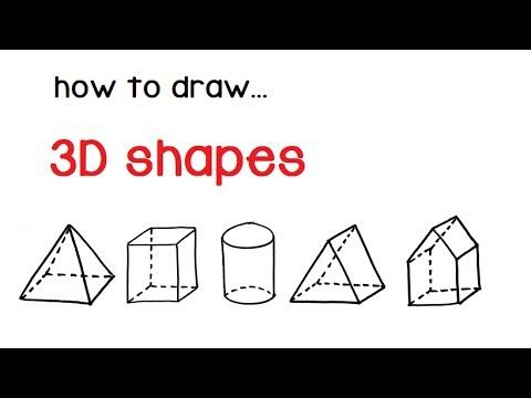 Learn How To Draw In 3 D With Mark Kistler In Just 15 Minutes A Day Public Television S Favorite Artist And Emmy 3d Shapes 3d Drawings Easy Drawings For Kids