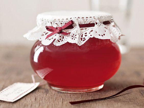 Rezept für Rosé-Litschi-Gelee