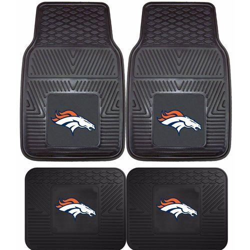 Denver Broncos 4pk 2 Front 2 Rear Vinyl Heavy Car Truck Mats Nfl Fanmats 846104087680 On Ebid United States 178733647 Bronco Car Nfl Denver Broncos Denver Broncos