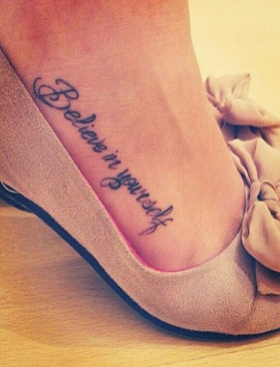foot tattoos foot tattoos for women quotes the important things in tattoo ideas fo pinteres. Black Bedroom Furniture Sets. Home Design Ideas