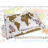 Scratch Off World Map - Weltkarte zum Rubbeln - Die Rubbel Landkarte Deluxe in XXL für Reiselustige und Weltenbummler. Mehr auf: www.ztyle.de