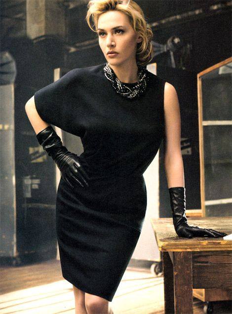 Kate Winslet In Silk Lined Leather Gloves: