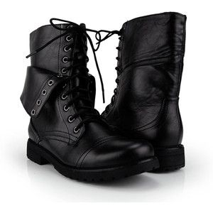 Black Military Lace Up Combat Boot