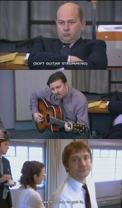 the office. The genius of Ricky Gervais, the two part Christmas special is all time great television.