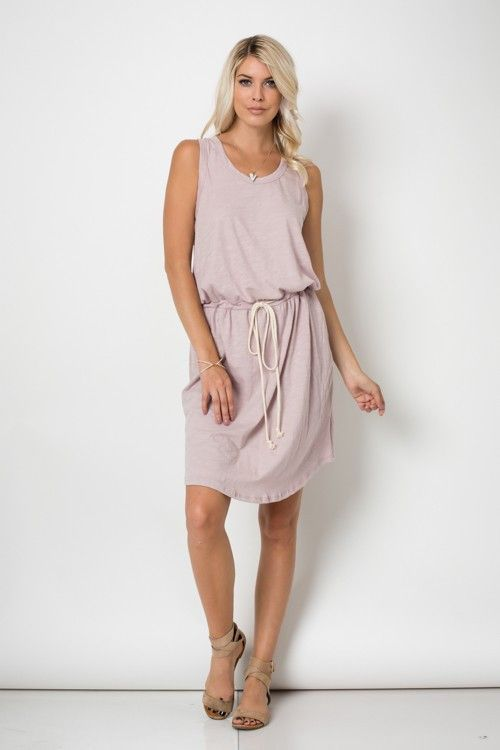 The Becky Dress in Blush