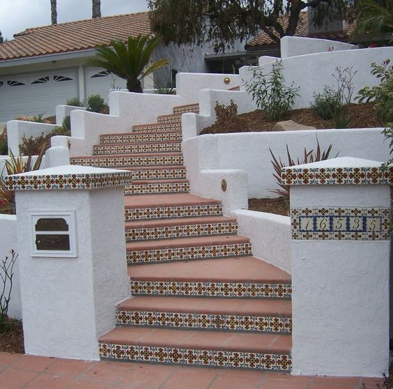stamped concrete with tile inset - Yahoo Image Search Results