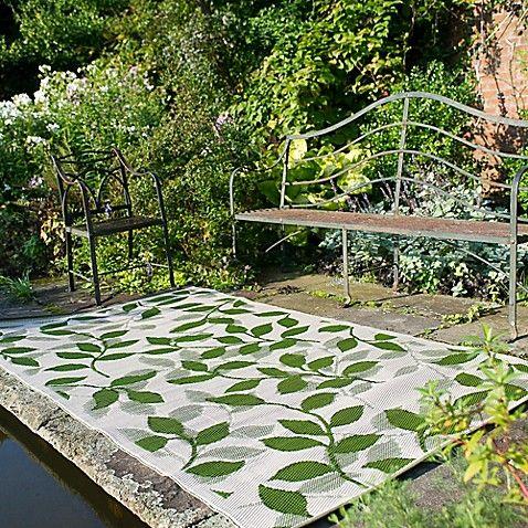 Fab Habitat Bali 6 Foot X 9 Foot Indoor Outdoor Area Rug In Forest Green Cream Outdoor Fab Habitat Outdoor Plastic Rug
