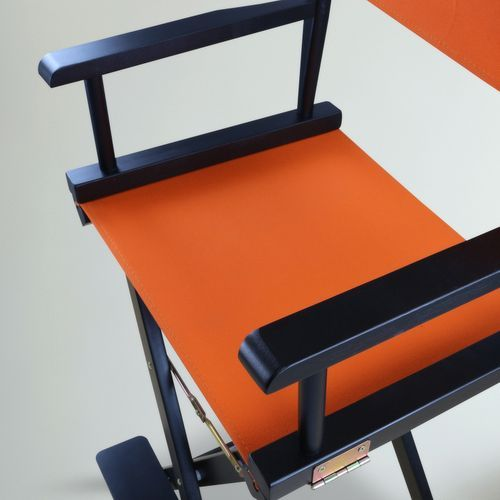 30 Director S Chair Bar Stool Black Frame With Tangerine Canvas Directors Chair Bar Stools Black Frame