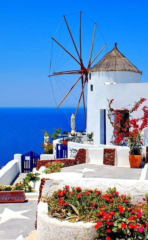 Santorini, Greece.  Go to www.YourTravelVideos.com or just click on photo for home videos and much more on sites like this.