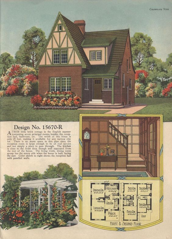 Home plans tudor and home on pinterest for Tudor revival house plans