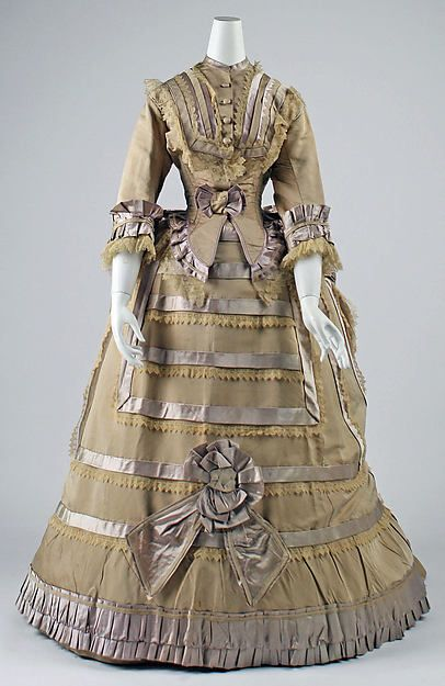 Dress Date: 1865–70 Culture: probably French Medium: silk:
