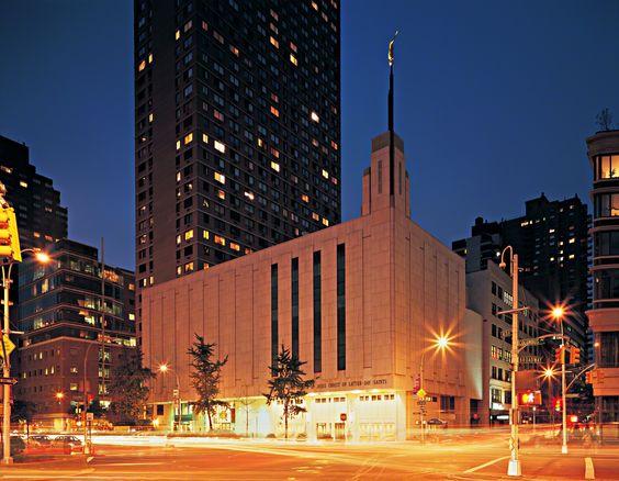 Manhattan New York Temple at night. #LdsTemple #Mormon #lds