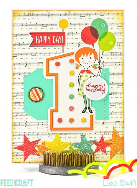 Card Share: Happy Day, Happy Birthday (Simple Stories Let's Party)