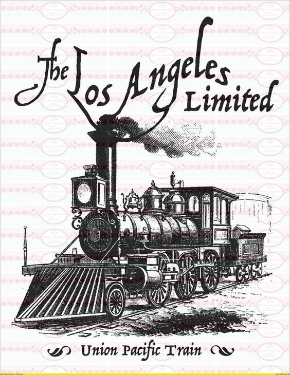 Bügelbilder - Vintage Bügelbild Shabby Zug Train - ein Designerstück von Doreens-Bastelstube bei DaWanda