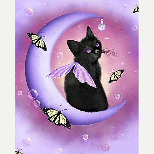 Drill Cat Butterfly 5D Diamond DIY Painting Craft Kit Home Wall Hanging