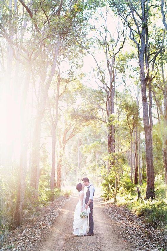 Landscape wedding forest