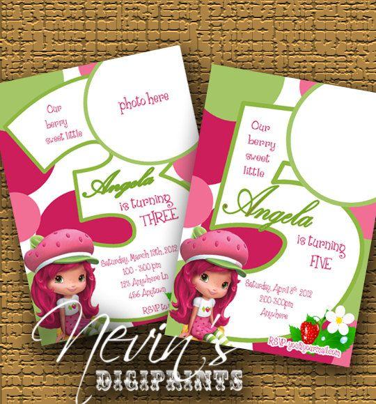 Strawberry Shortcake Birthday Card by Nevindigiprints – Strawberry Shortcake Birthday Cards