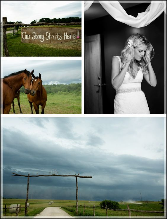 Wedding at Circle S Ranch in Lawrence, Kansas.  Amazing skies that day- rain isn't always a bad thing.  www.amaples.com