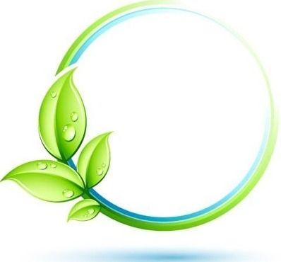 green leaf environment logo free vector freebievectors