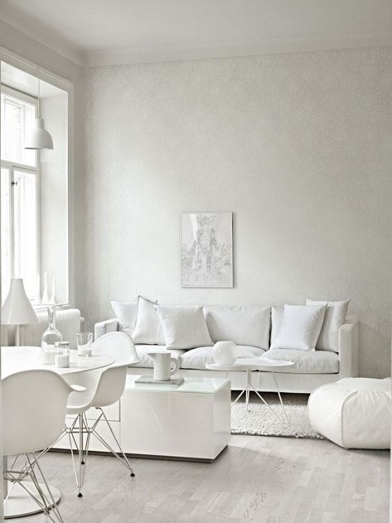 Pin By Tomi Barkah On Modern Living Room Ideas Modern White Living Room Minimalist Living Room White Couch Living Room