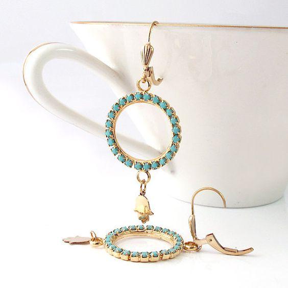 Hamsa jewelry  14k gold filled  hamsa earrings   by SigalitAlcalai, $58.00