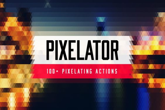 creativemarket.com     Pixelator - 100+ Pixel Actions
