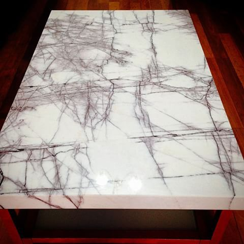 This Table Top Was Made From New York Marble Slab Supplied From  @carraramarble #tabletop #Carraramarble #Marble #marmo #newyork  #whitemarble #desigu2026