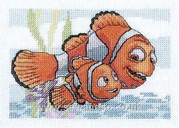 cross stitch kit - marlin & nemo - royal paris