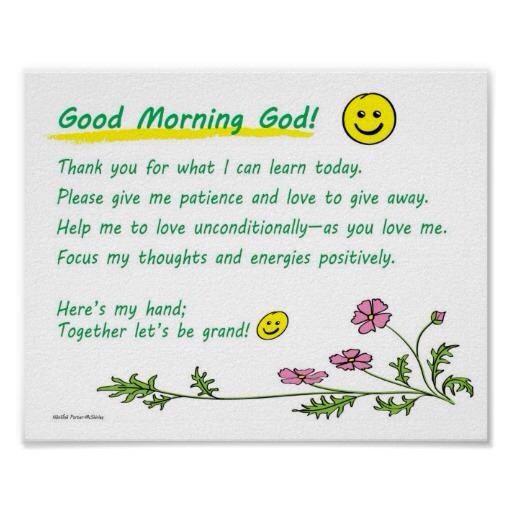 Good Morning Prayer For You : Good morning great little prayer for children