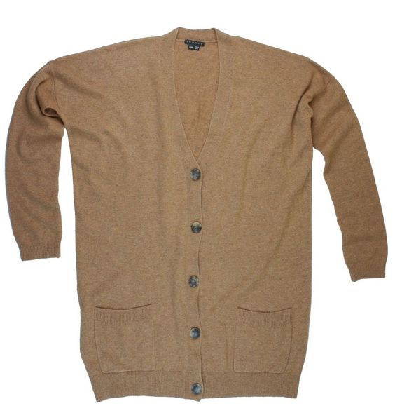 THEORY Size M Oversized Camel Brown Cashmere Cardigan Sweater ...