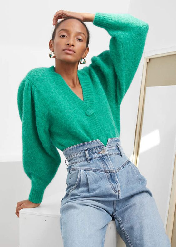 53 With Button Colorful Short Sweaters That Will Make You Look Fantastic outfit fashion casualoutfit fashiontrends