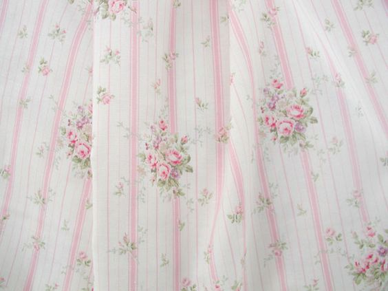 Rose Stripe Pink Fabric