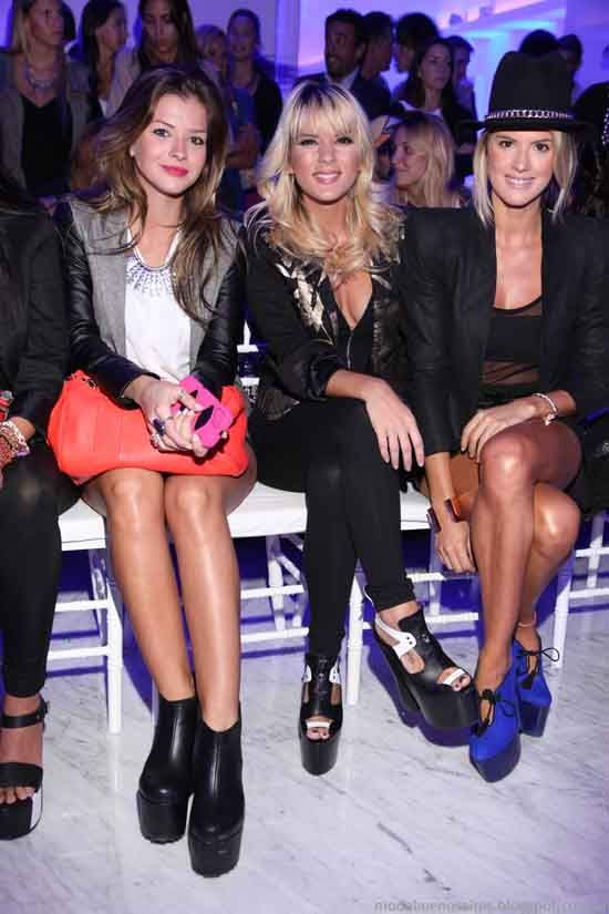La China Suárez, Mary del Cerro y co. usando Sarkany en el #Bafweek 2013.
