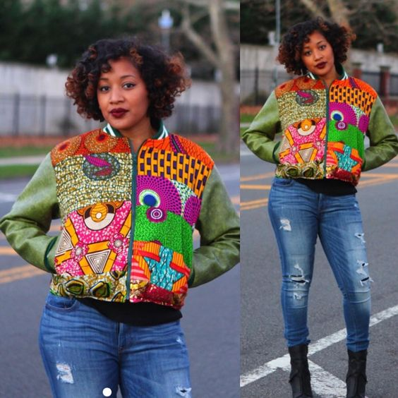 """""""This jacket is da bomb  available at www.zuvaa.com // #africanprint #africanart #africanfashion #african #shopzuvaa #buyblack #blackbusiness"""""""