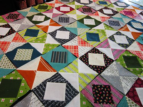 "Value Dance patchwork, square in a square turorial for 5"" unfinished size blocks."