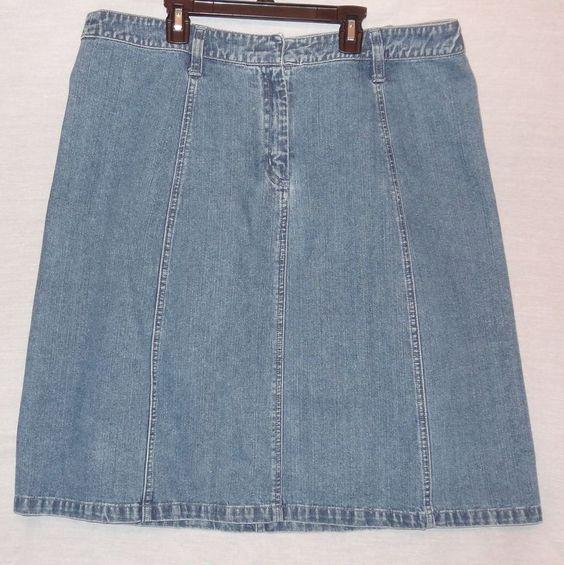 Details about Blue Jean Denim A-Line Skirt Size 16 Womens ...