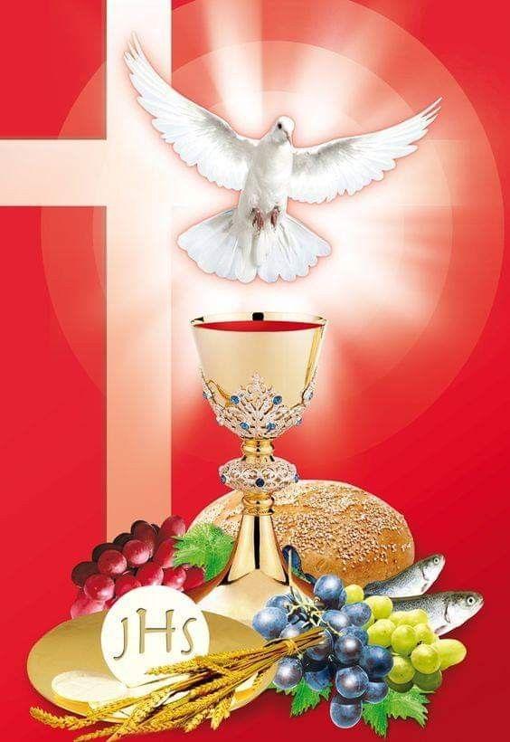 Resultado de imagem para espirito santo e a eucaristia