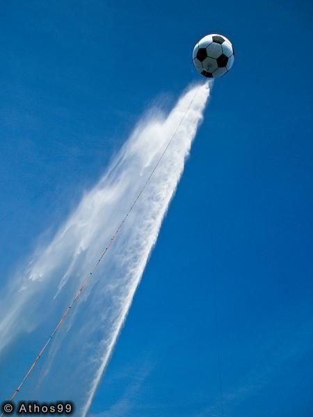 Le jet d'eau Genève et son ballon
