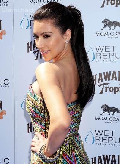 Kim Kardashian classic ponytail