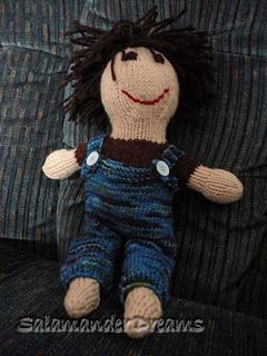 Knit boy dolly, for the 3yo. Love him so much!
