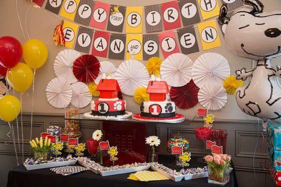 Snoopy & festa de aniversário Peanuts Ideias | Foto 7 de 44 | Pegar My Party: