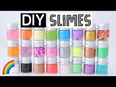 Making 25 Amazing Diy Slimes Six Easy Slime Recipes Youtube Easy Slime Easy Slime Recipe Diy Slime Recipe