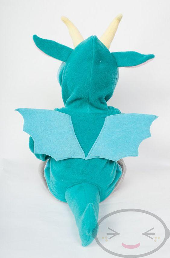 BABY & TODDLER Dragon Hoodie Costume Vest Jacket by lemonbrat
