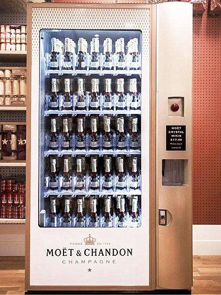 Champagne vending machine!