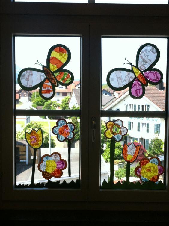 Fensterbild schmetterling fensterbilder grundschule - Fensterbilder grundschule ...