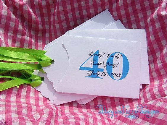 Th Birthday Party Ideas For Women Th Birthday Party Favors - 40th birthday party favors ideas