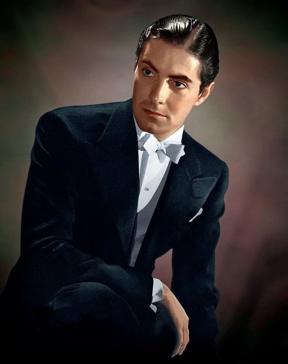 Tyrone Power. A perfect promo photo from the height of his career.