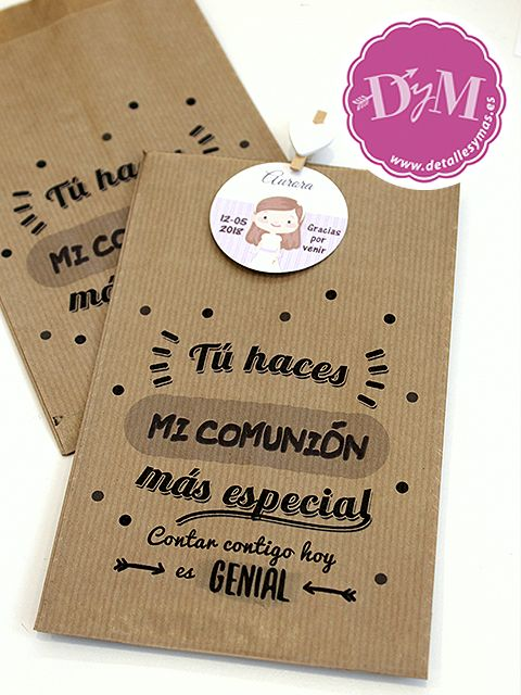Bolsas De Papel Con Frases Para Agradecer A Los Invitados De